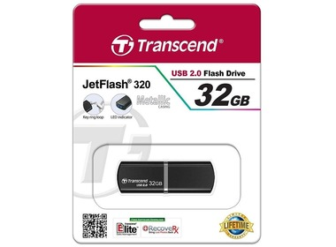 USB флеш-накопитель TRANSCEND JetFlash 320 32GB Black (TS32GJF320K)
