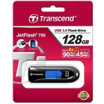 USB флеш-накопитель TRANSCEND JetFlash 790 128GB USB 3.0 Black (TS128GJF790K)