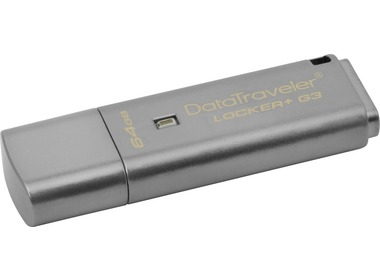 USB флеш-накопитель KINGSTON 64Gb DataTraveler Locker+ G3 USB 3.0 (DTLPG3/64GB)
