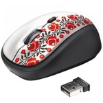 Мышка Trust Yvi Wireless Mouse - Ukrainian style - flower (20286)