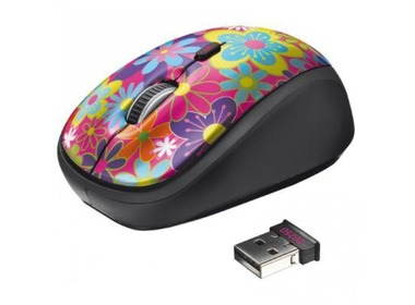 Мышь TRUST Yvi Wireless Mouse flower power (20250)
