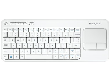 Клавиатура LOGITECH Wireless Touch Keyboard K400 Russian layout White (920-005931)