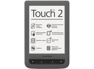 Электронная книга POCKETBOOK 626 Touch Lux3, серый