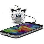 Акустическая система KITSOUND Mini Buddy Speaker Zebra White (KSNMBZBR)